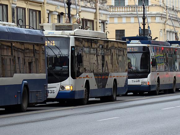 В центре Петербурга перестали ходить троллейбусы