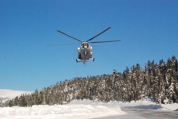 Вертолет с детьми произвел аварийную посадку на Таймыре