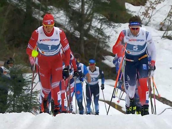 Норвежский лыжник высказался о дисквалификации за столкновение с Большуновым