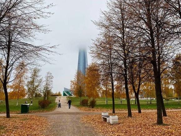 В Петербурге дождливо и облачно