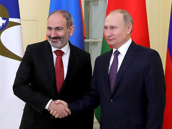 Пашинян написал письмо Путину с просьбой о помощи