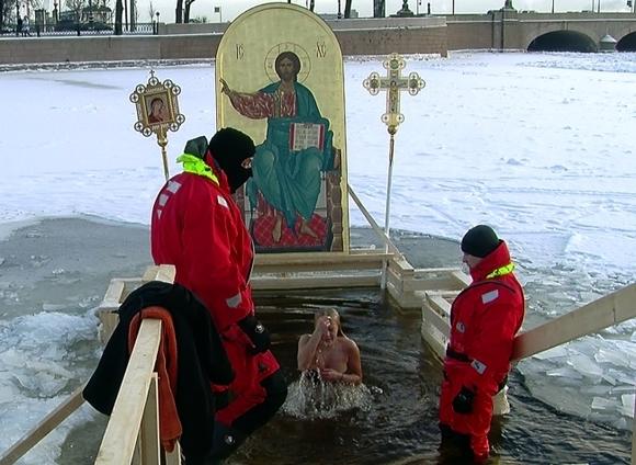 Православные празднуют Крещение Господне